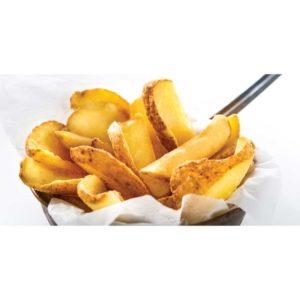 Patatine prefritte a forma di barchetta con buccia