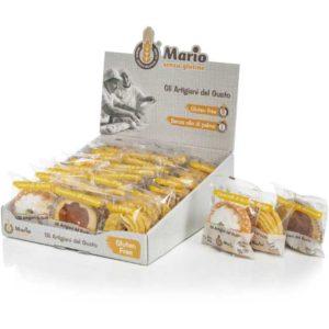 Espositore dolciario di prodotti senza glutine: crostatine all'albicocca