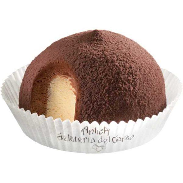 Il dessert per eccellenza ancora oggi fedele alla nostra storia. Un cuore di gelato alla crema avvolto da un cremoso gelato al cioccolato preparato con Latte Fresco Italiano e arricchito con polvere di cacao
