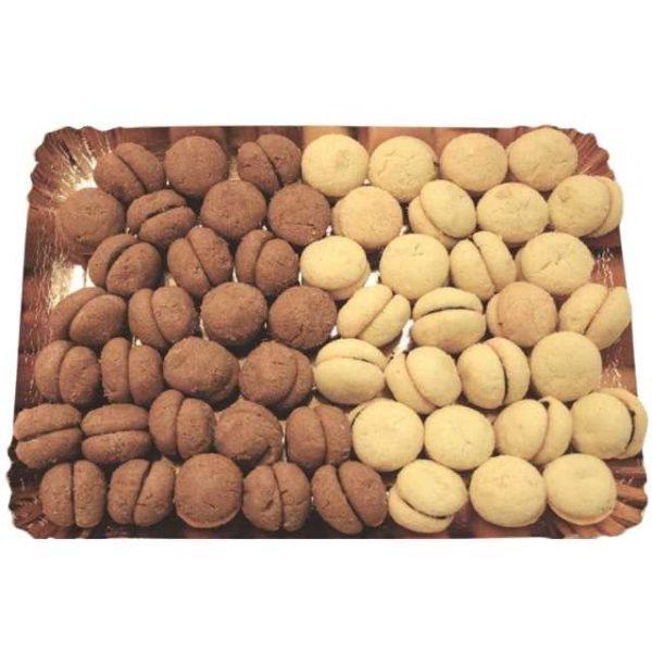 Baci di dama con farina di mandorle e al cacao