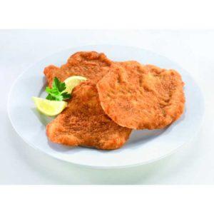 Una cotoletta impanata servita assieme a stupende patate fritte dorate. Non esiste un abbinamento più classico di questo. Succulento petto di pollo con delicata panatura per una cottura dorata.