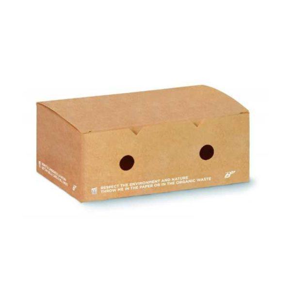 Box porta patatine per asporto. Dimensioni: 20x12x7 cm
