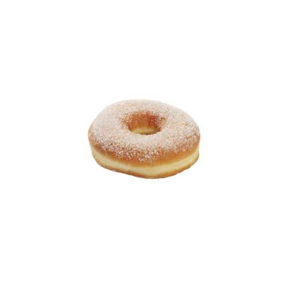 Mini ciambellina prefritta e decorata in superficie con zucchero.