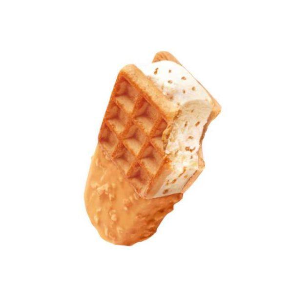 Biscotto waffle con gelato gusto panna